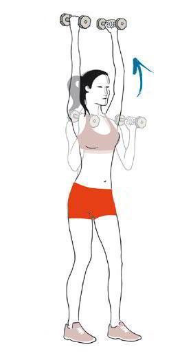 Flexión de brazos con entre 1 y 3 kilos de peso: